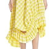 Marques Almeida Asymmetrical Frilled Gingham Skirt