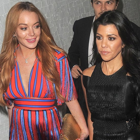 Kourtney Kardashian Lindsay Lohan Out in London June 2016