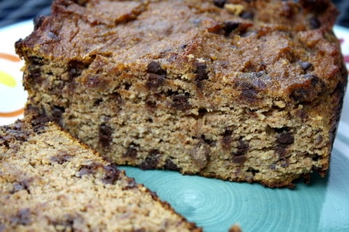 Chocolate Chip Paleo Pumpkin Bread