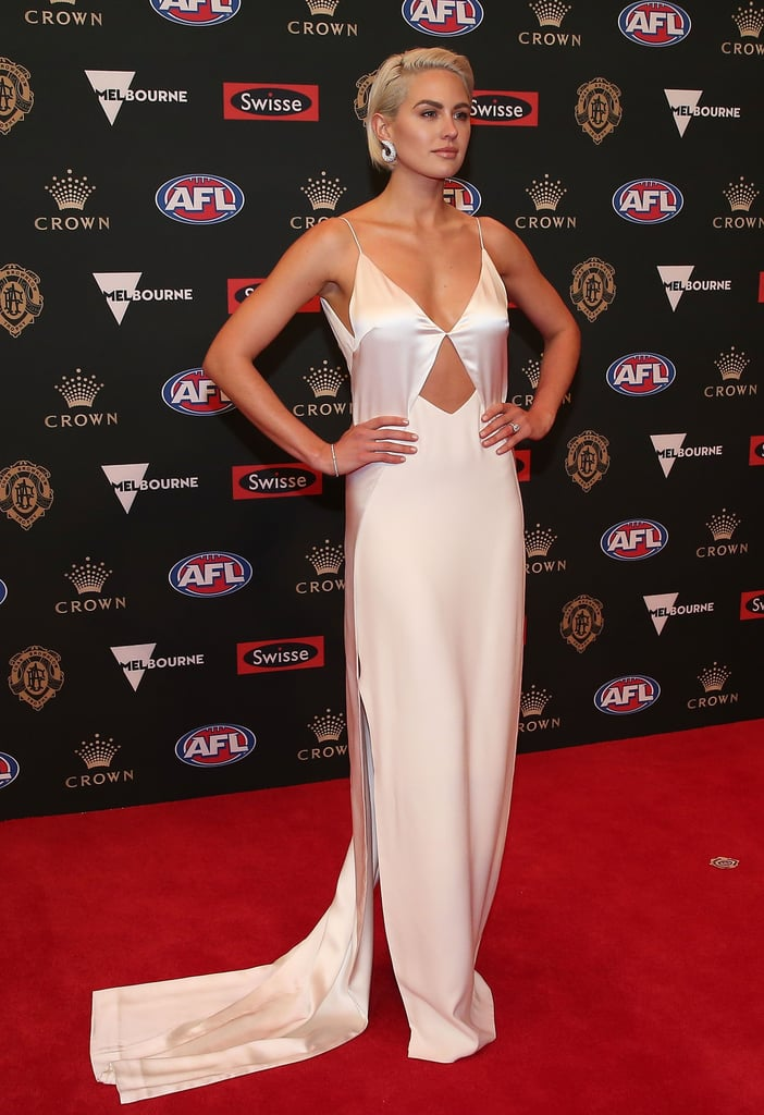 Jesinta Franklin White Dion Lee Dress Brownlow Medal 2018
