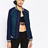 Self-Portrait Scalloped Edge Bomber Jacket ($462)