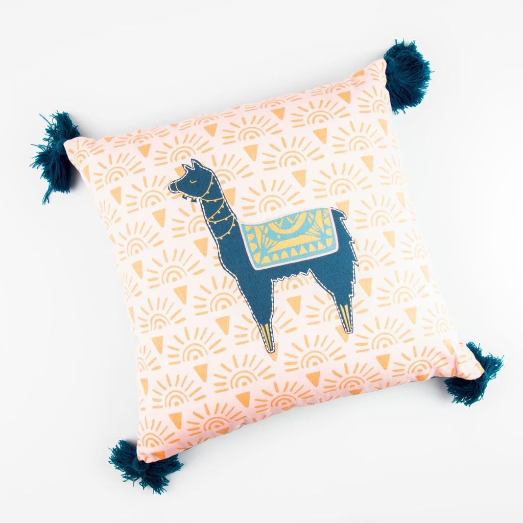 Sunkissed Llama Throw Pillow