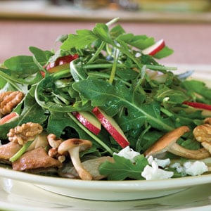 Scrumptious Side: Mushroom, Apple, and Goat Cheese Salad