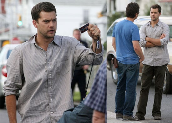 Photos of Joshua Jackson Filming Fringe in Queens
