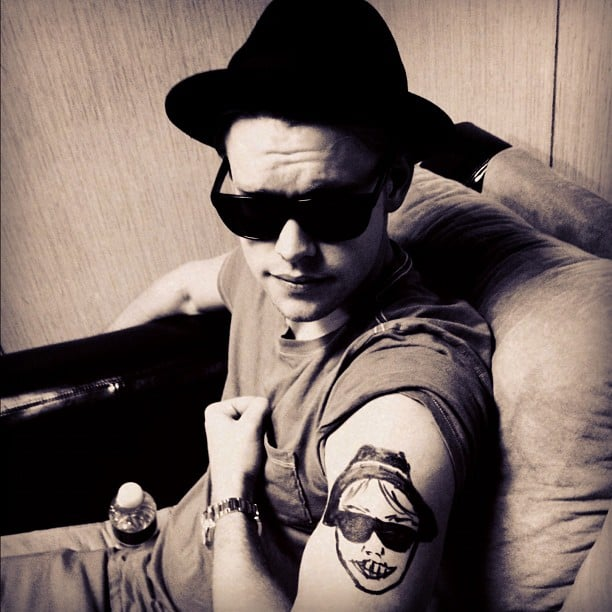 "Chord Overstreet showed off a new ""tattoo."" Source: Instagram user chordover"