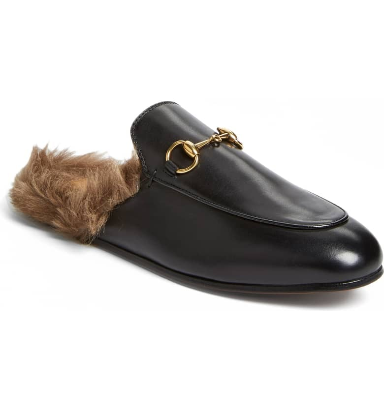 895326a3e6b5 Gucci Princetown Genuine Shearling Loafer Mule