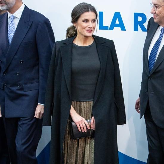 Queen Letizia's Pleated Midi Skirt November 2018