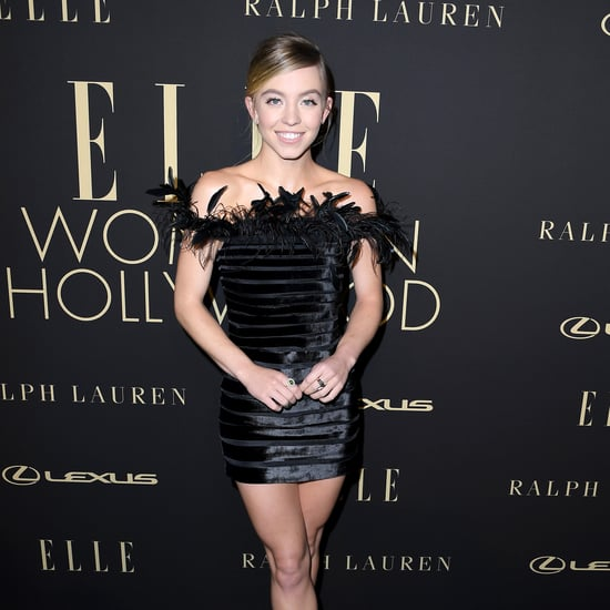Sydney Sweeney's Ralph Lauren Feathered Minidress Is a Dream