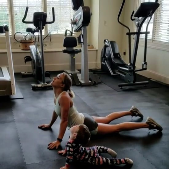 Carrie Underwood Workout With Her Son