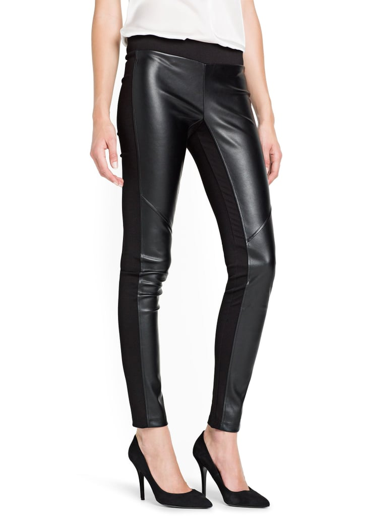 Worried that leather leggings won't be comfortable? Try Mango's paneled pair ($45) that has a softer fabric in back.