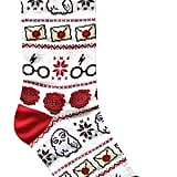 Harry Potter Pattern Crew Christmas Socks
