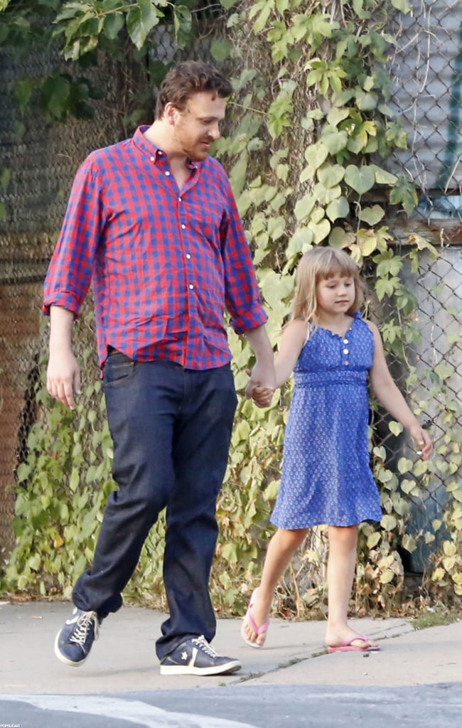 Jason Segel held hands with Matilda Ledger yesterday while on a stroll in Brooklyn with her nanny. The duo shared smiles and Matilda even showed off some dance moves. It seems Jason's keeping an eye on his girlfriend's daughter for the time being. Michelle's expected in San Diego today to take part in a Comic-Con press event for her upcoming film Oz: The Great and Powerful. Michelle will attend alongside her costar Mila Kunis — we're on the scene in Southern California, so make sure to check back for frequent updates. Jason just wrapped up a period of his own business travel. He was in Europe last month doing an overseas tour for his film The Five-Year Engagement. He made stops in Dublin, Hamburg, and London before returning to NYC and his girls. Michelle Williams and Jason Segel spent time together in her neighborhood, and he also supported her at her Big Apple premiere of Take This Waltz.