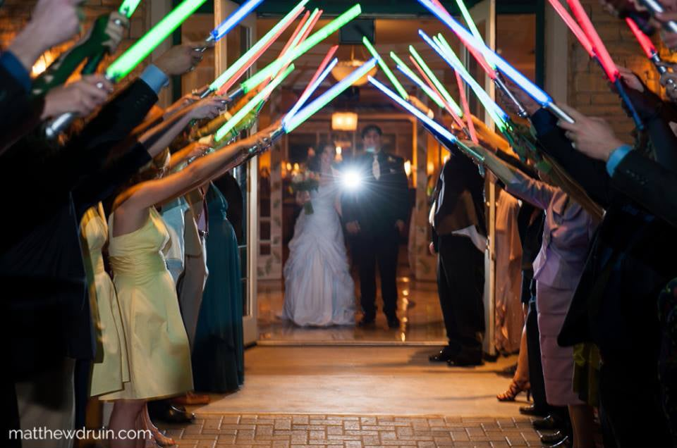 Lightsaber Send-Off | Star Wars Wedding Ideas | POPSUGAR Tech Photo 36