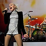 Gwen Stefani looked stunning in silver.