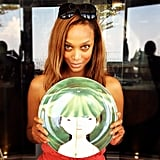 Tyra Banks showed off some fashion plates she found while visiting Singapore. Source: Instagram user tyrabanks