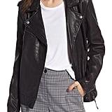 Treasure & Bond Convertible Leather Jacket