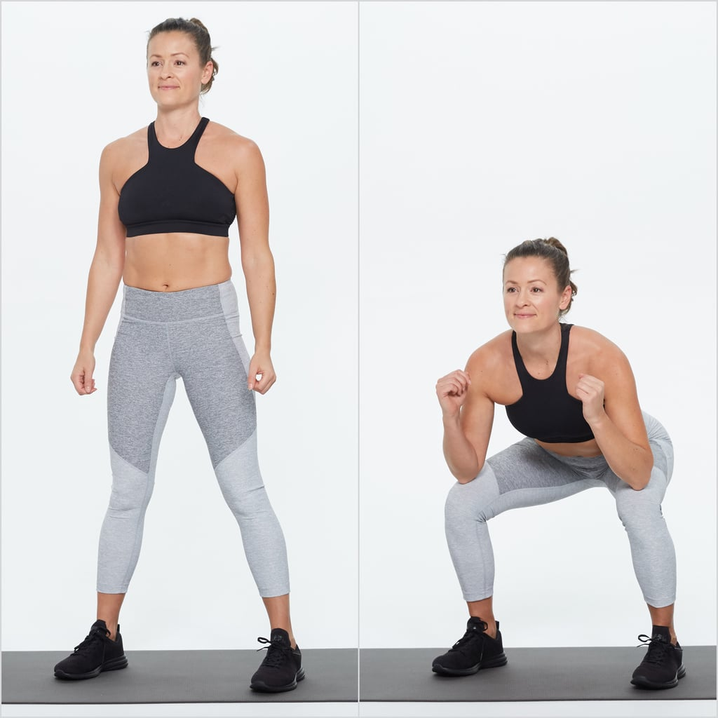 Squat With Alternating Reverse Lunge