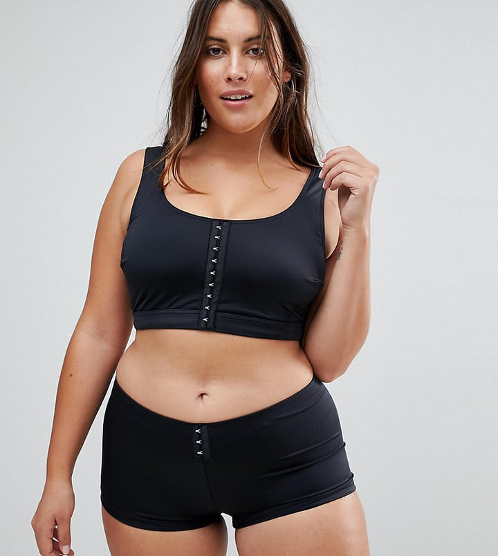 Asos Mix and Match Crop Bikini Top With Hook and Eye
