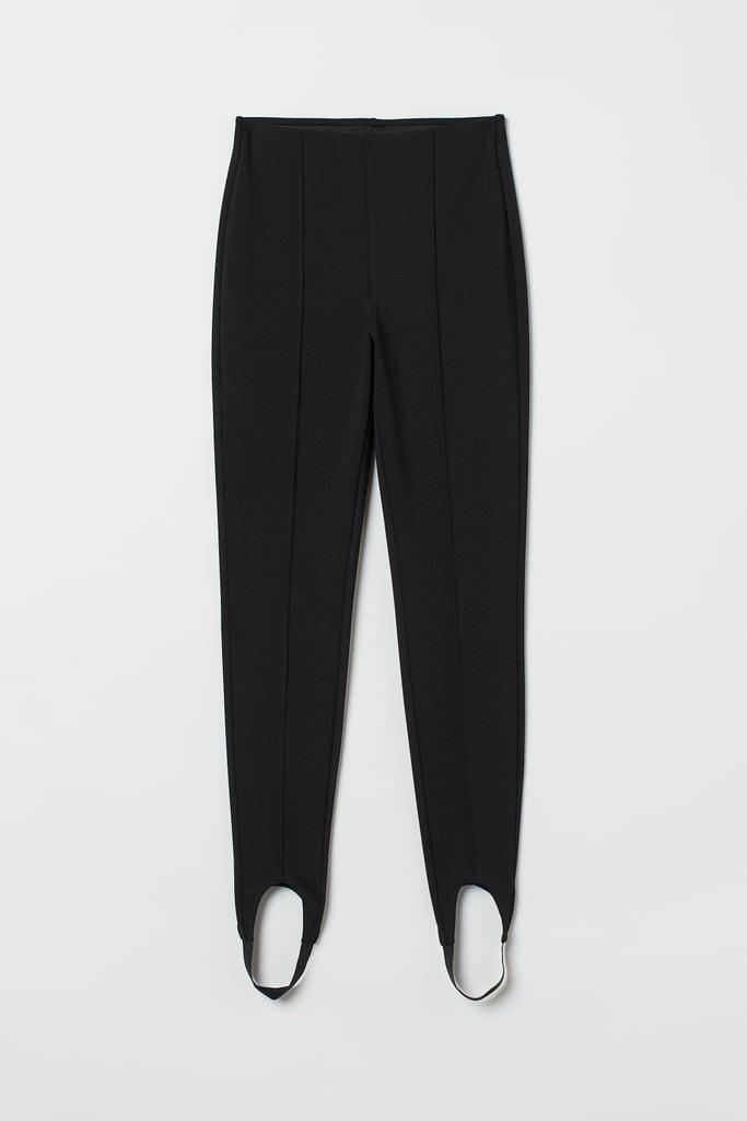 Crease-Front Stirrup Leggings