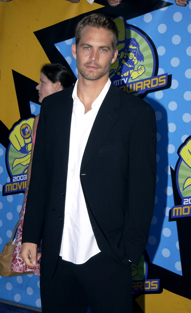 Paul walked the red carpet at the MTV Movie Awards in May 2003.