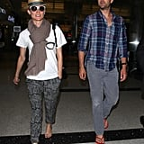 Joshua Jackson and Diane Kruger Are All Smiles Returning From France