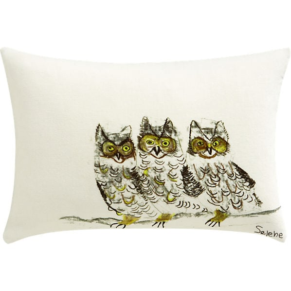 Gift This Three Owls Cb2 Pillow 40 For A Guaranteed
