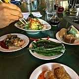 The food at Luc Lac's was simply divine. Can you believe this entire meal (plus drinks) cost $17?
