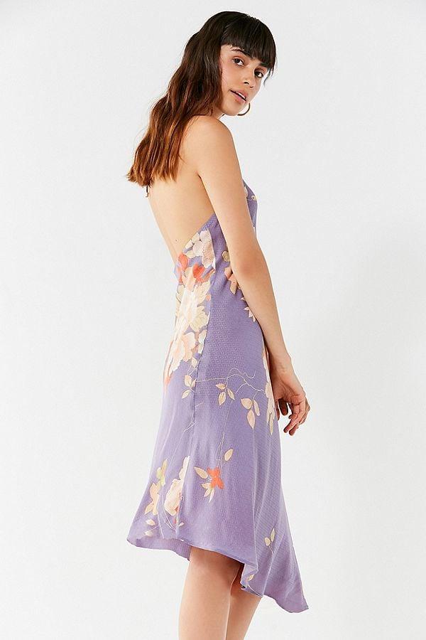731a80a51c10 UO Blooming Asymmetrical Hem Midi Dress