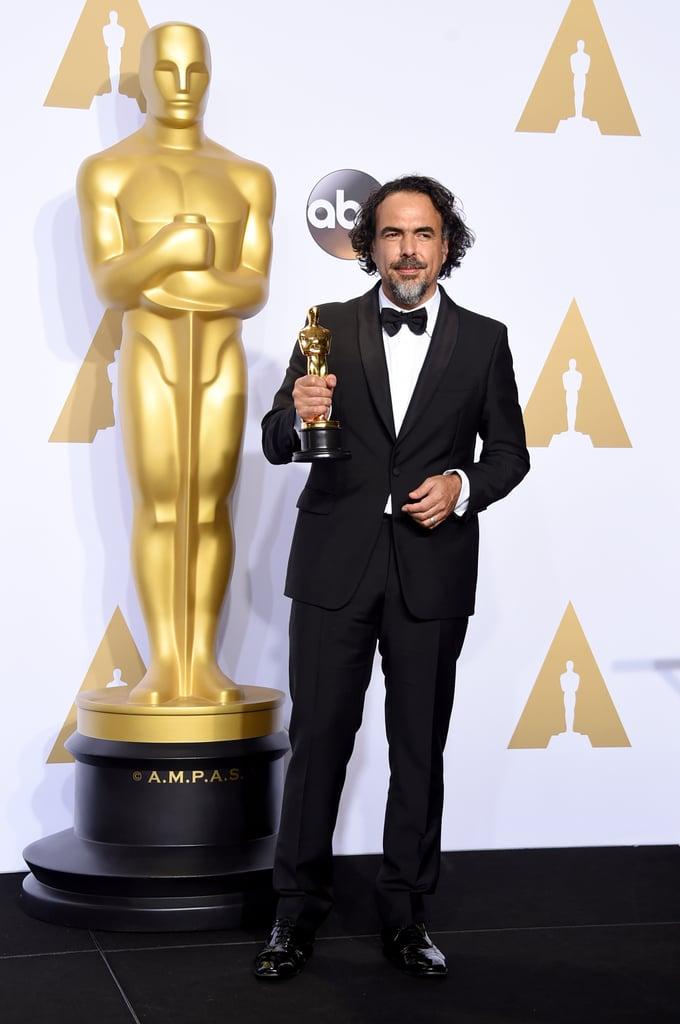 Posing With His Oscar