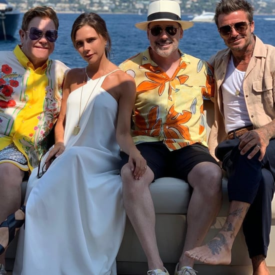 Victoria Beckham White Dress on Boat