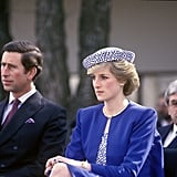 Princess Diana Wearing Her Butterfly Earrings