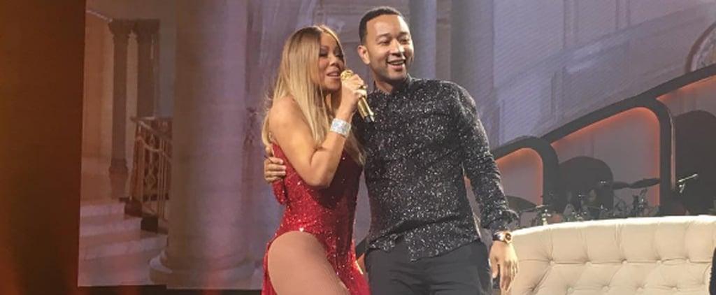 Mariah Carey Teases John Legend on Stage, Chrissy Teigen Completely Loses It