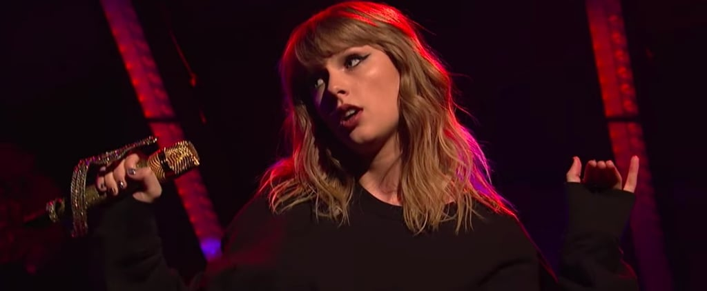"Taylor Swift Fully Embraces Her ""Snake"" Reputation in Her SNL Performances"