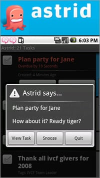 Astrid App For Android Phones Keeps You Organized