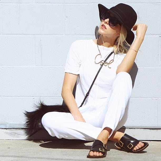 They acted as a focal point for an all-white monochrome look. Source: Instagram user lookdepernille