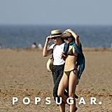 Lily-Rose Depp Green Bikini