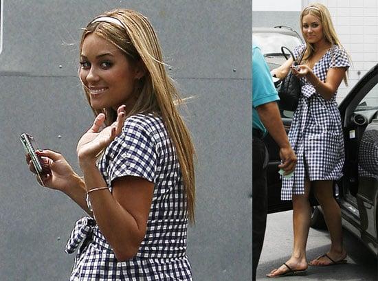 Photos of Lauren Conrad Wearing a Plaid Dress