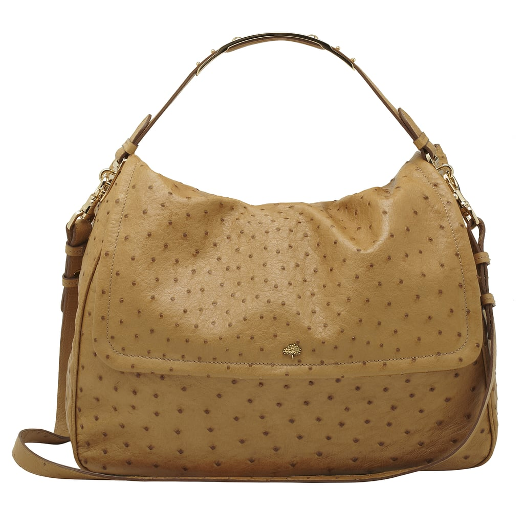 2fe06bc64fac Large Evelina Satchel in Fudge Ostrich £4