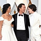 Timothée With Matthew McConaughey and Camila Alves