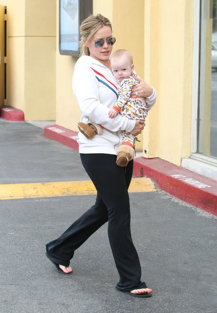 "Hilary Duff spent a busy weekend in LA juggling family and fun. On Saturday, she stepped out with her son, Luca, who wore mini UGGs and a Beatles ""Yellow Submarine"" onesie, to run errands. They stopped by a Sherman Oaks mall and were later back together to pick up fresh produce at a farmers market. That evening, Hilary switched gears to attend a party at Skybar in West Hollywood to celebrate Mindy Kaling's upcoming comedy series, The Mindy Project. She wasn't the only famous face in attendance since John Mayer, B.J. Novak, and more gathered for the bash. It looks like Hilary is enjoying her downtime before getting back to work, since she recently signed a deal to star in and produce a half-hour comedy series."