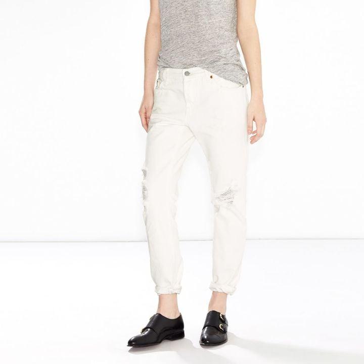 252594f8 Levi's Women's 501 CT Boyfriend Jeans ($65) | Best White Jeans ...