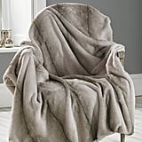 Ella James Faux Angora Striped Throw