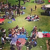 The parks are filled with sunny, happy picnics.