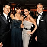 Tom Cruise, Katie Holmes, Victoria Beckham, and David Beckham