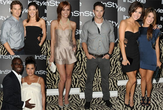 Photos of Ashlee Simpson, Kellan Lutz, Jessica Stroup, Shenae Grimes, Michael C. Hall, Taye Diggs at InStyle Party