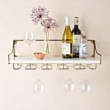 Mayfair Wall-Mounted Wine-Glass Shelf