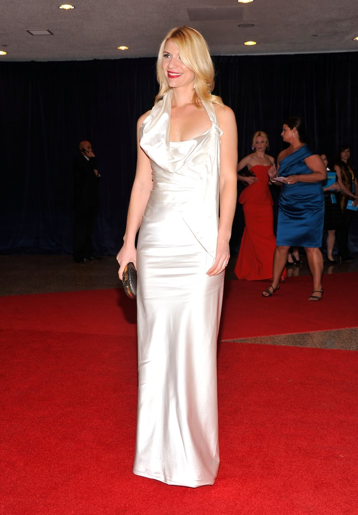 Claire Danes lit up the carpet at the White House Correspondant's Dinner.