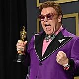 Elton John at the 2020 Oscars