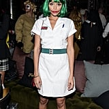 Ashley Madekwe paid homage to Heath Ledger's performance as the Joker in a nurse's uniform at Matthew Morrison's Halloween party in 2014.