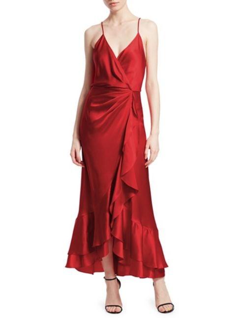 Johanna Ortiz Perfumero Silk Wrap Dress